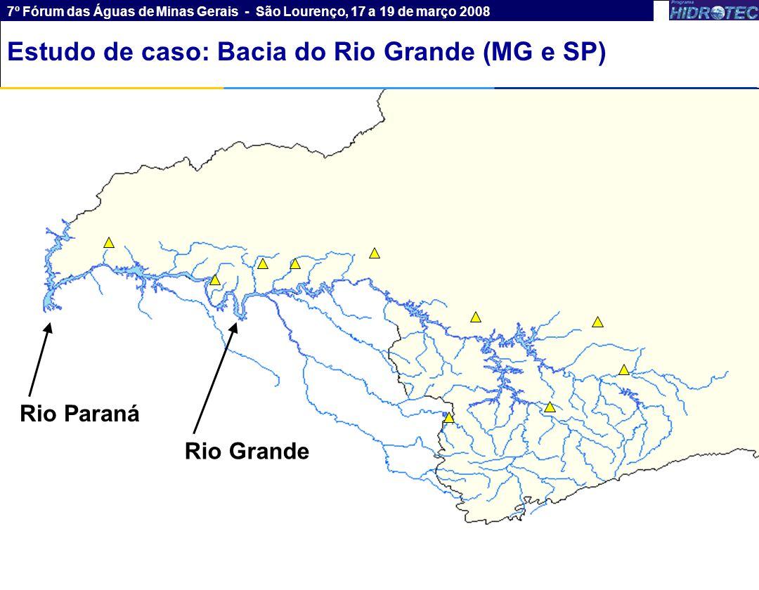 6 Rio Paraná Rio Grande Estudo de caso: Bacia do Rio Paranaíba (MG e GO) 7º Fórum das Águas de Minas Gerais - São Lourenço, 17 a 19 de março 2008 Estu