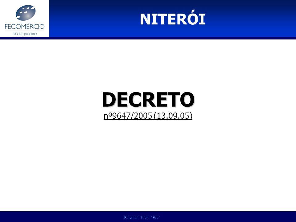DECRETO DECRETO nº9647/2005 (13.09.05) NITERÓI