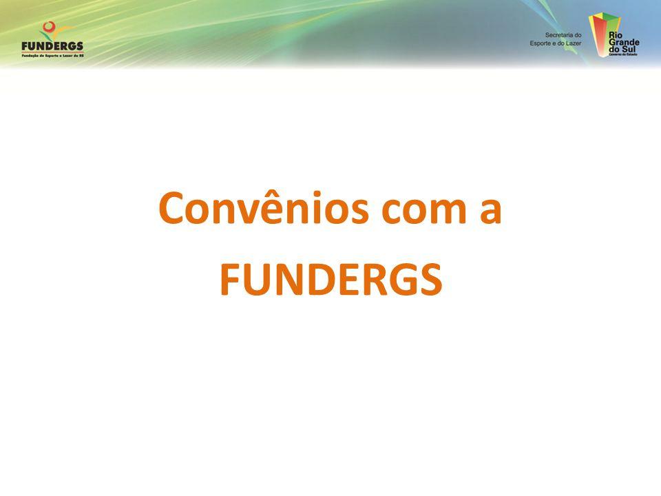 CONVÊNIOS O processo de convênios passa pelas etapas de habilitação e apresentação de projetos.