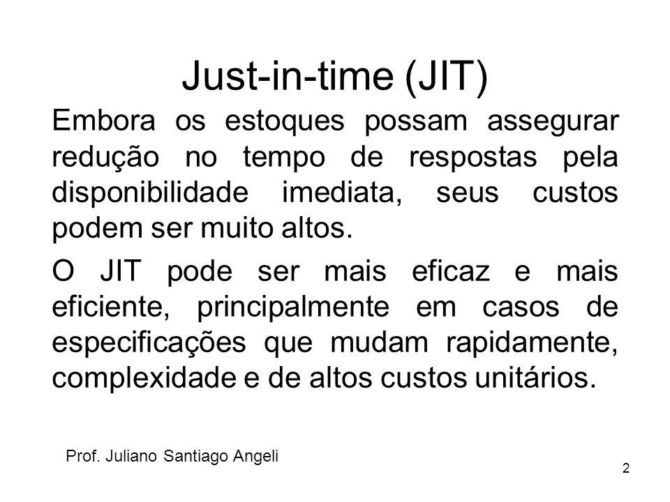 2 Just-in-time (JIT) Embora os estoques possam assegurar redução no tempo de respostas pela disponibilidade imediata, seus custos podem ser muito alto