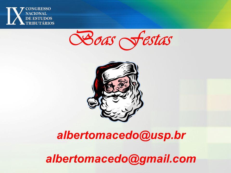 Boas Festas albertomacedo@usp.br albertomacedo@gmail.com