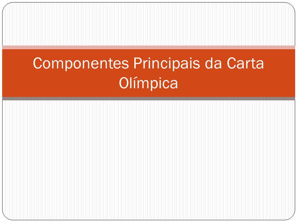 Capítulo 1: O Movimento Olímpico e suas ações Artigo 2: A missão do COI é promover o Olimpismo pelo mundo e liderar o Movimento Olímpico.