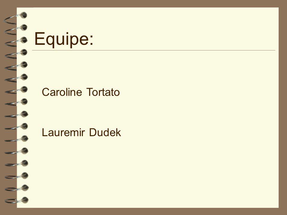 Equipe: Caroline Tortato Lauremir Dudek