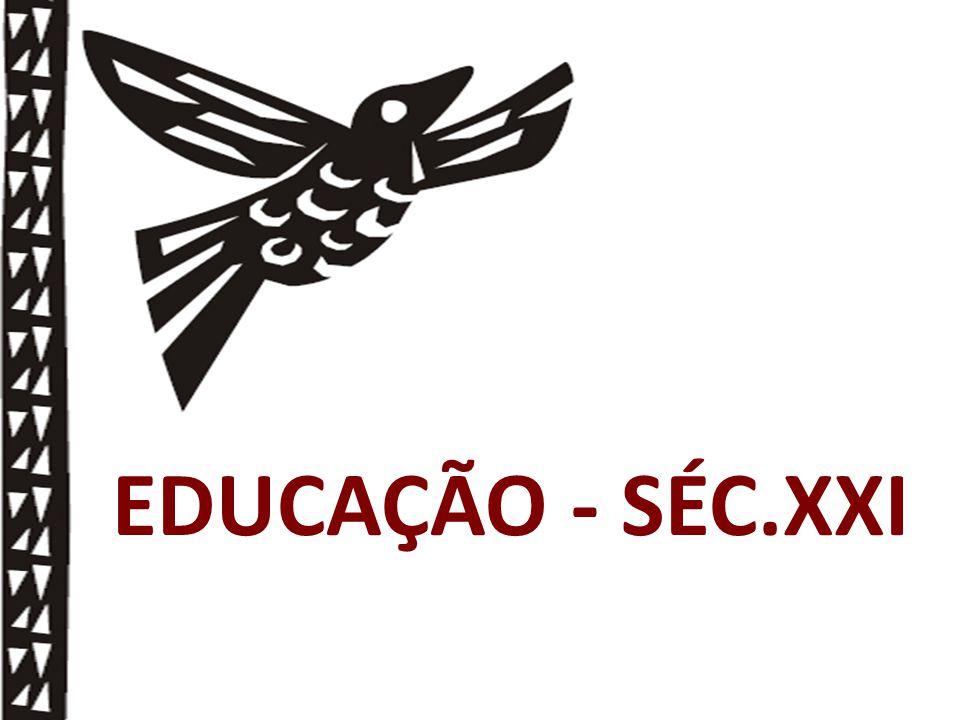 Uma educação que investe na construção coletiva do conhecimento para desenvolver competências, habilidades e atitudes.