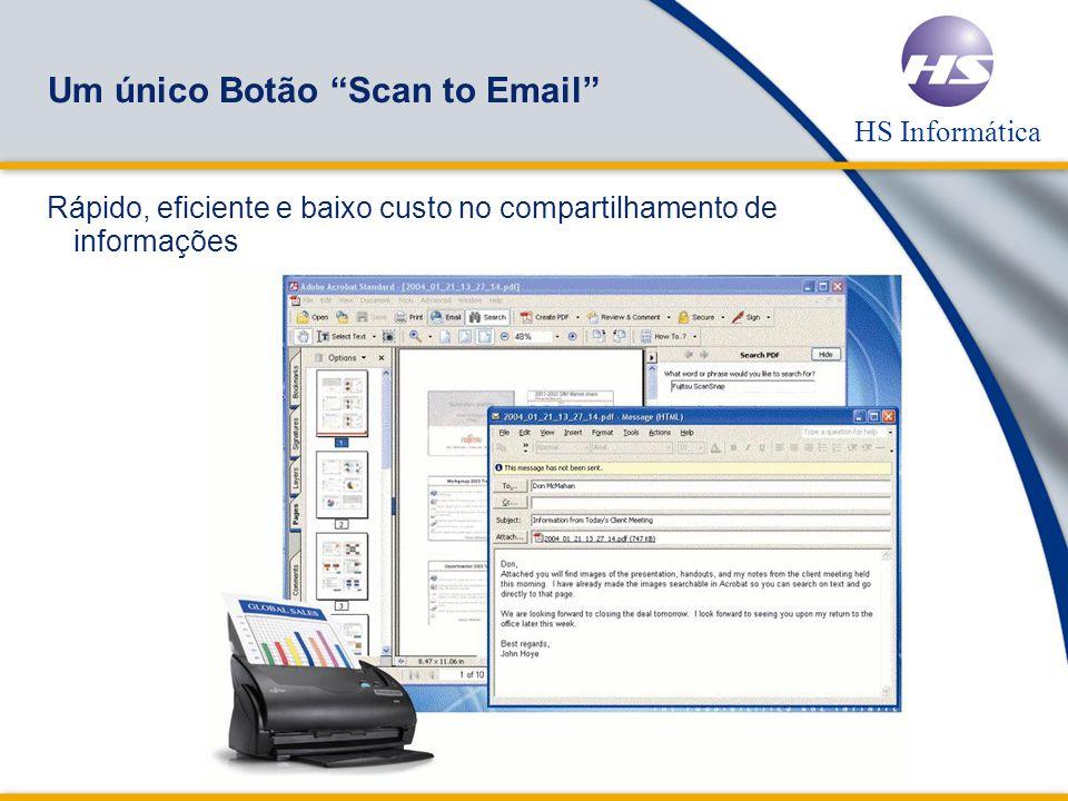 HS Informática Um único Botão Scan to File Visualizador thumbnails das imagens digitalizadas