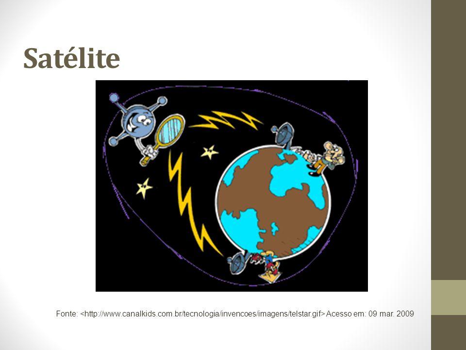 Satélite Fonte: Acesso em: 09 mar. 2009