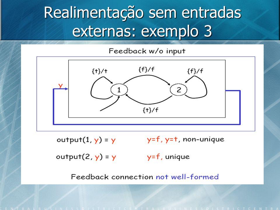 Sistema mal formado (not well- formed) Se estiver no estado 1 e a entrada for verdadeiro, o sistema não tem solução.