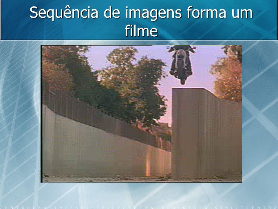 Sequência de imagens forma um filme