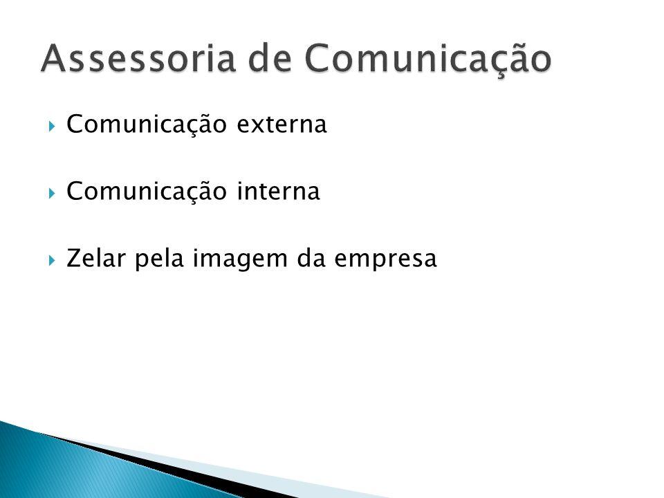 Comunicação externa Comunicação interna Zelar pela imagem da empresa