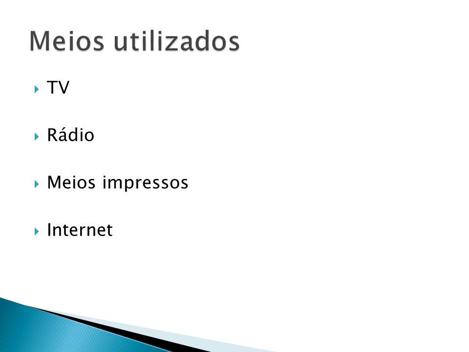 TV Rádio Meios impressos Internet