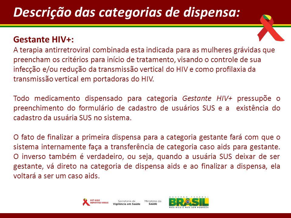 Gestante HIV+: A terapia antirretroviral combinada esta indicada para as mulheres grávidas que preencham os critérios para início de tratamento, visando o controle de sua infecção e/ou redução da transmissão vertical do HIV e como profilaxia da transmissão vertical em portadoras do HIV.