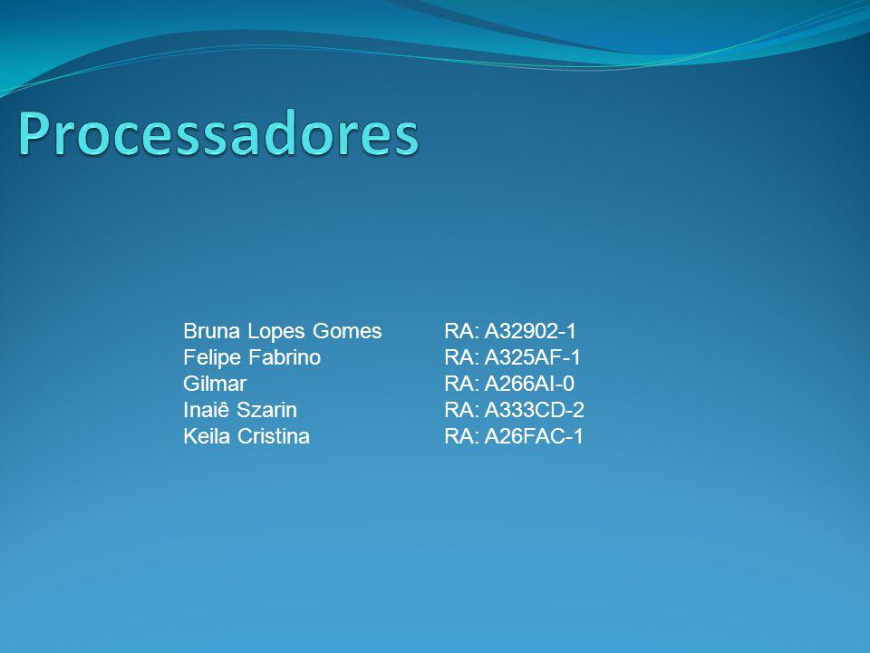 Bruna Lopes Gomes RA: A32902-1 Felipe FabrinoRA: A325AF-1 GilmarRA: A266AI-0 Inaiê SzarinRA: A333CD-2 Keila CristinaRA: A26FAC-1