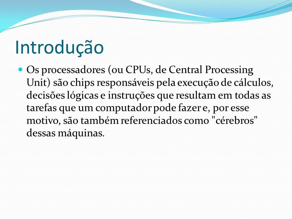 O que é A unidade de processamento, ou processador, ou CPU (do inglês Central Processing Unit - Unidade de Processamento Central), fica acoplada na placa-mãe.