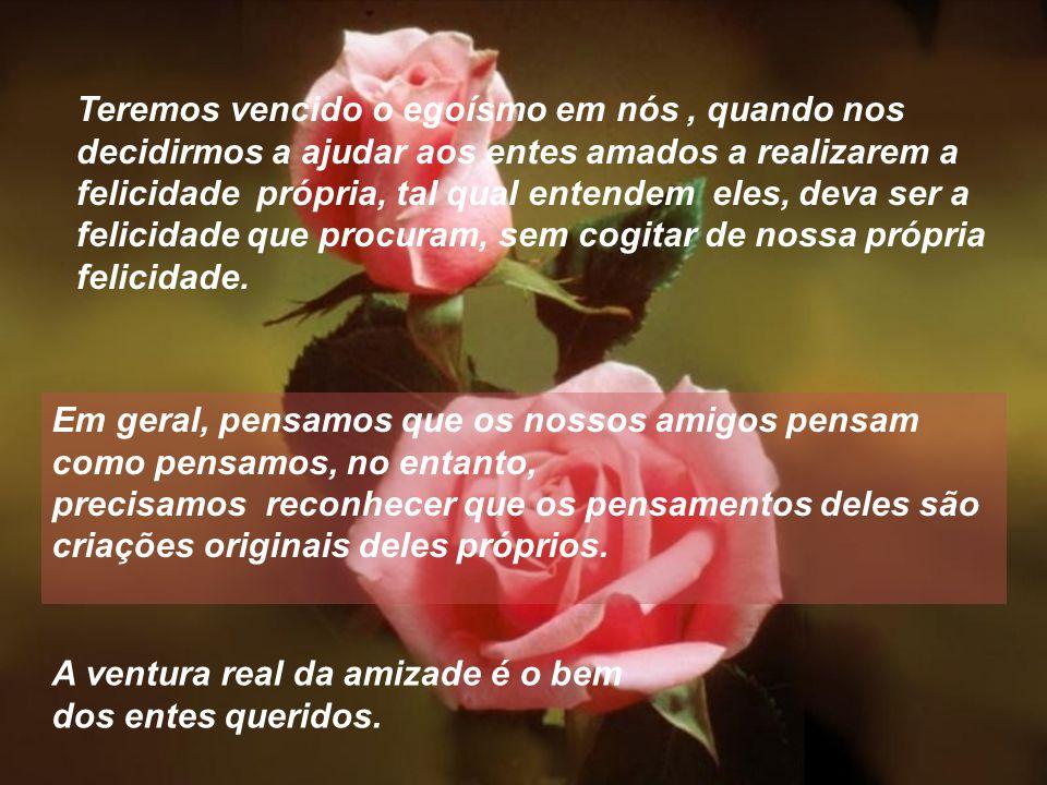 O amigo é uma bênção que nos cabe cultivar no clima da gratidão. Quem diz que ama e não procura compreender e nem auxiliar, nem amparar e nem servir,