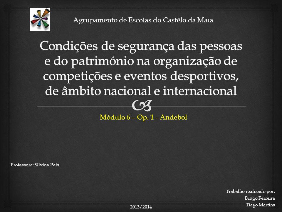 Agrupamento de Escolas do Castêlo da Maia Módulo 6 – Op.