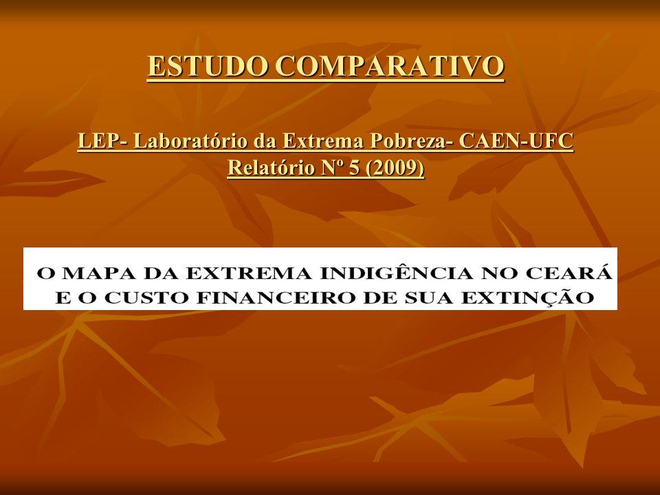 ESTUDO COMPARATIVO LEP- Laboratório da Extrema Pobreza- CAEN-UFC Relatório Nº 5 (2009)