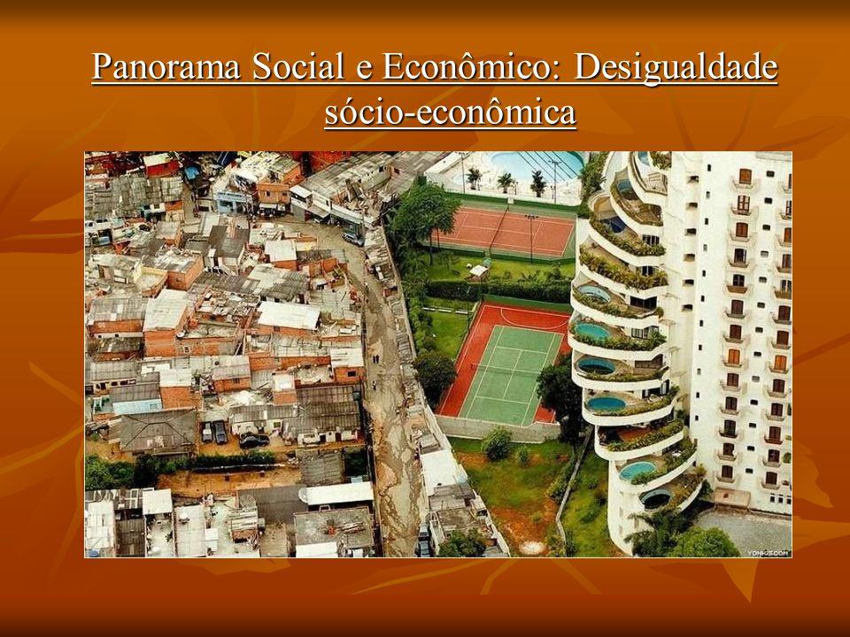 Panorama Social e Econômico: Desigualdade sócio-econômica