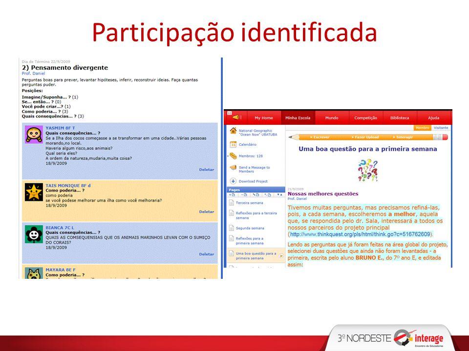 Participação identificada