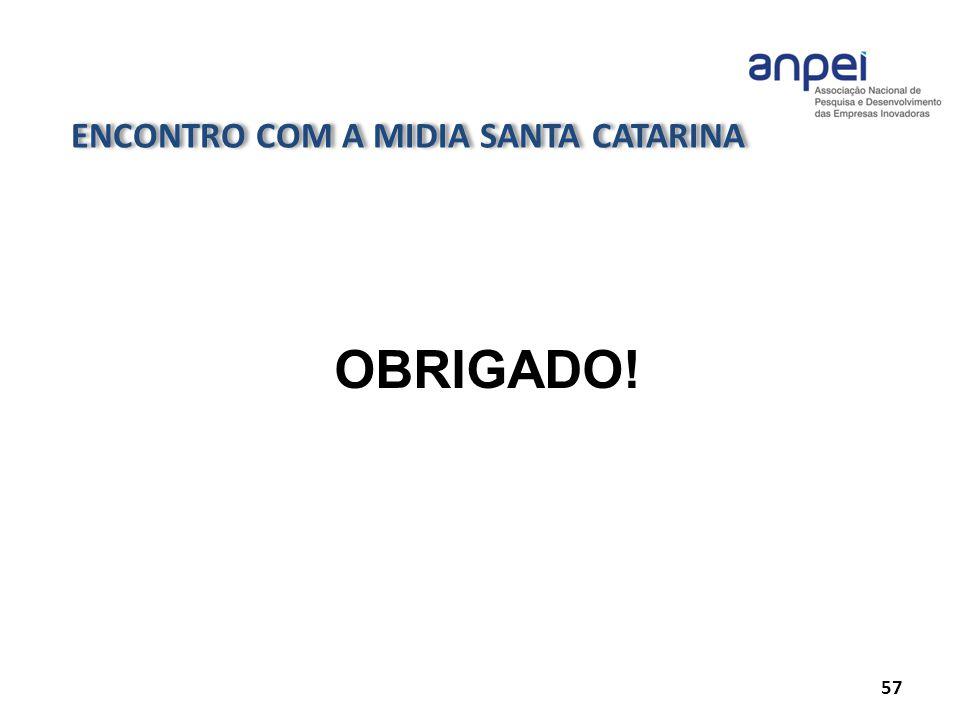 ENCONTRO COM A MIDIA SANTA CATARINA 57 OBRIGADO!