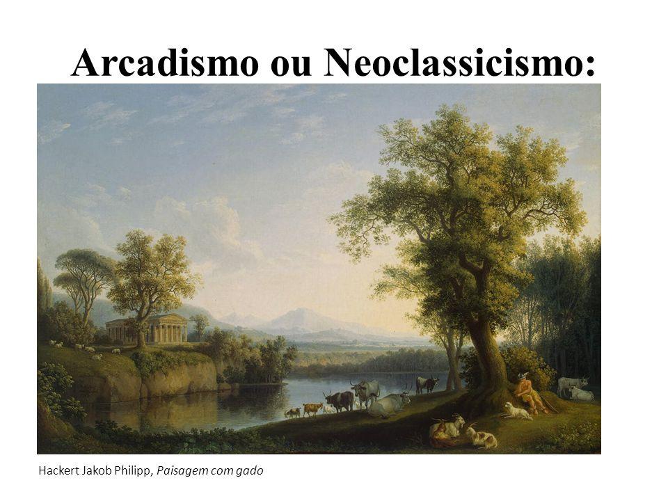 Arcadismo ou Neoclassicismo: Hackert Jakob Philipp, Paisagem com gado