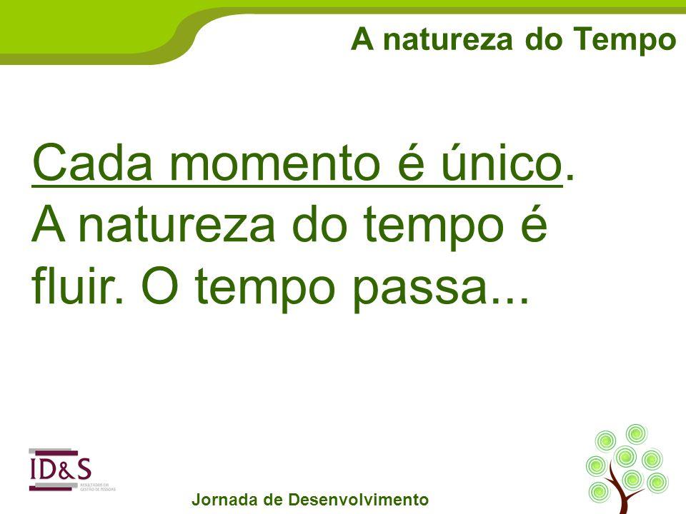 A natureza do Tempo Jornada de Desenvolvimento Cada momento é único.