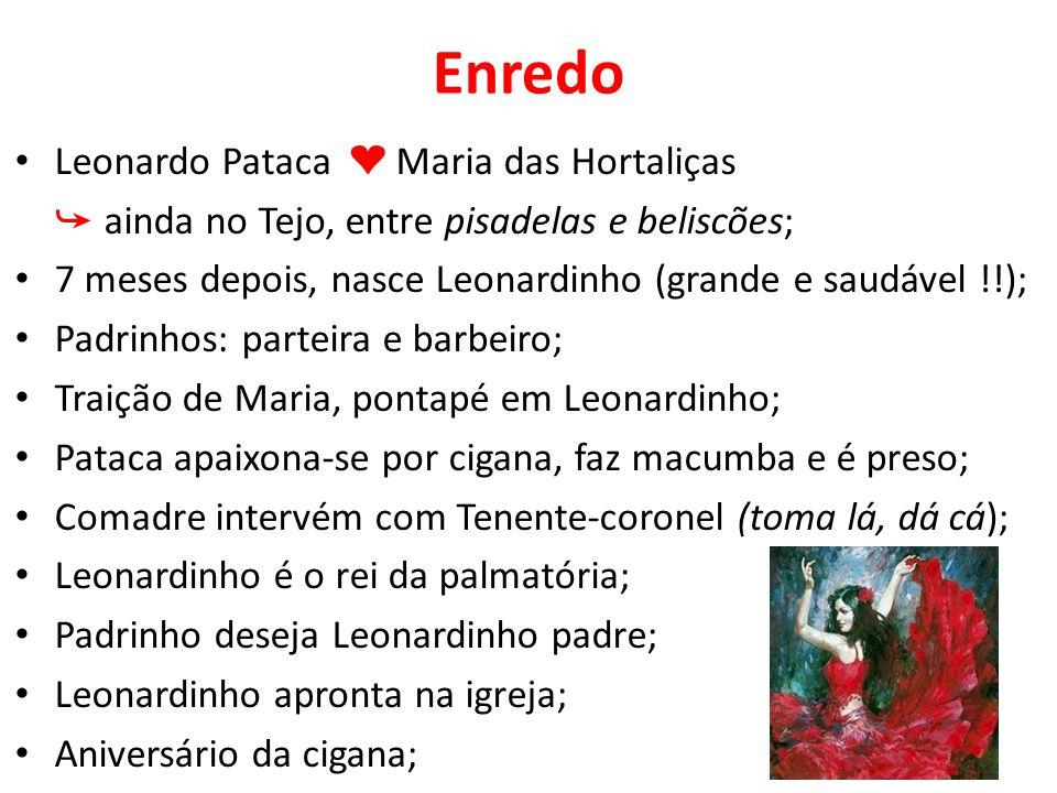 Personagens Vidinha – estereótipo da mulata sensual, toca viola e canta; D.
