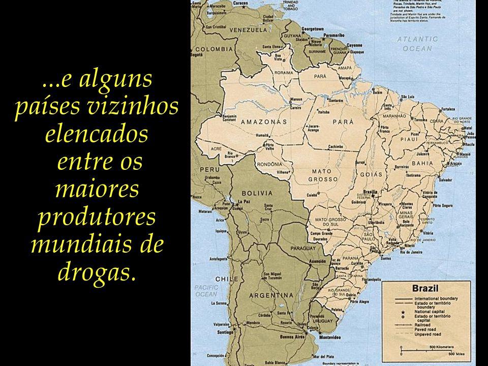 O país possui cerca de 15 mil quilômetros de fronteiras, com fiscalização muito deficiente ou mesmo inexistente,...