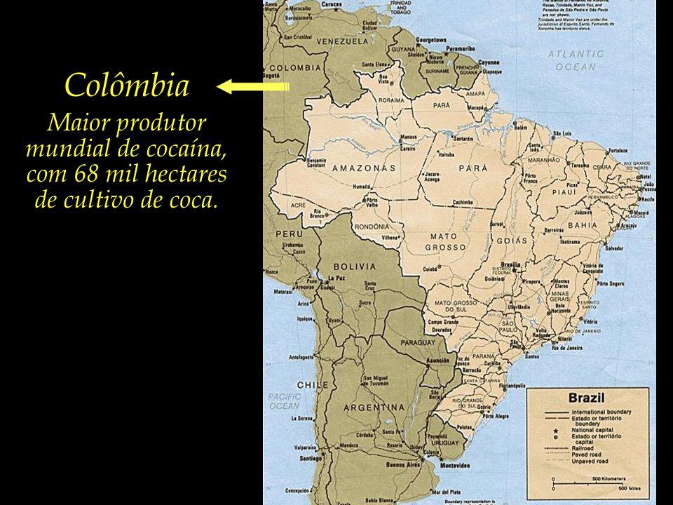 ...e alguns países vizinhos elencados entre os maiores produtores mundiais de drogas.