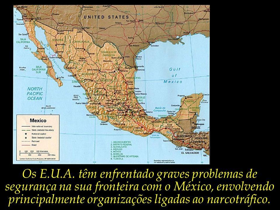 Para ilustrar a dificuldade em se deter a atuação do crime organizado transnacional, vejamos o exemplo dos E.U.A.