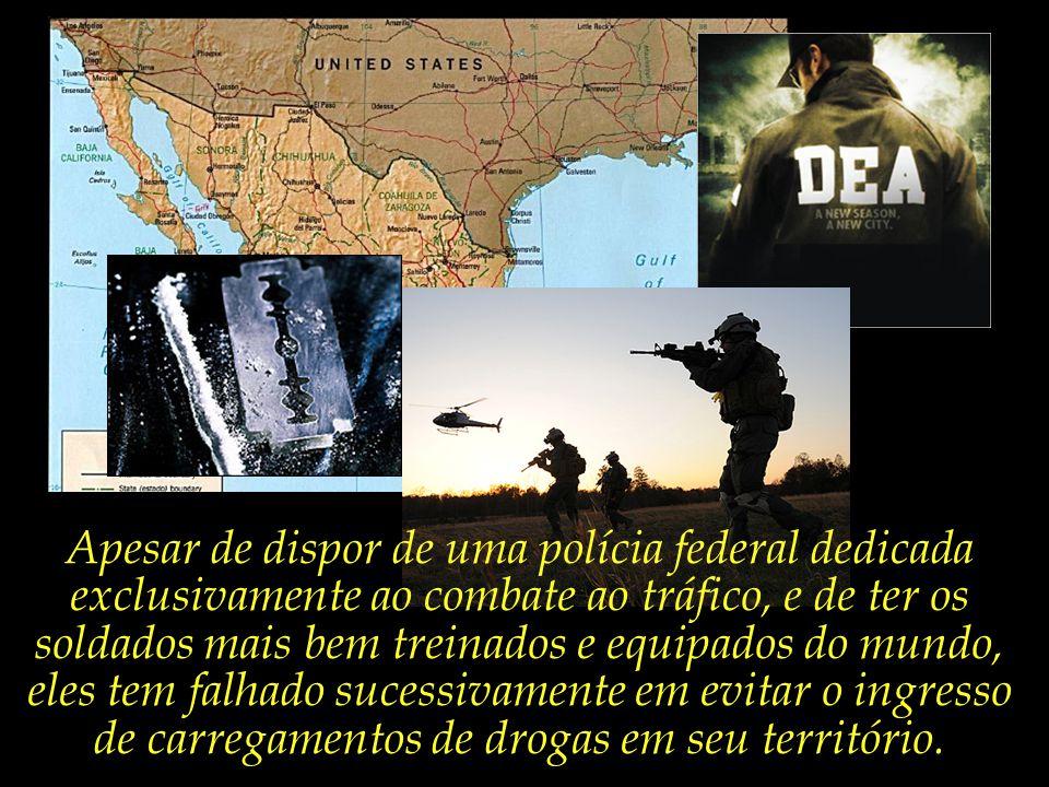 Os E.U.A. têm enfrentado graves problemas de segurança na sua fronteira com o México, envolvendo principalmente organizações ligadas ao narcotráfico.