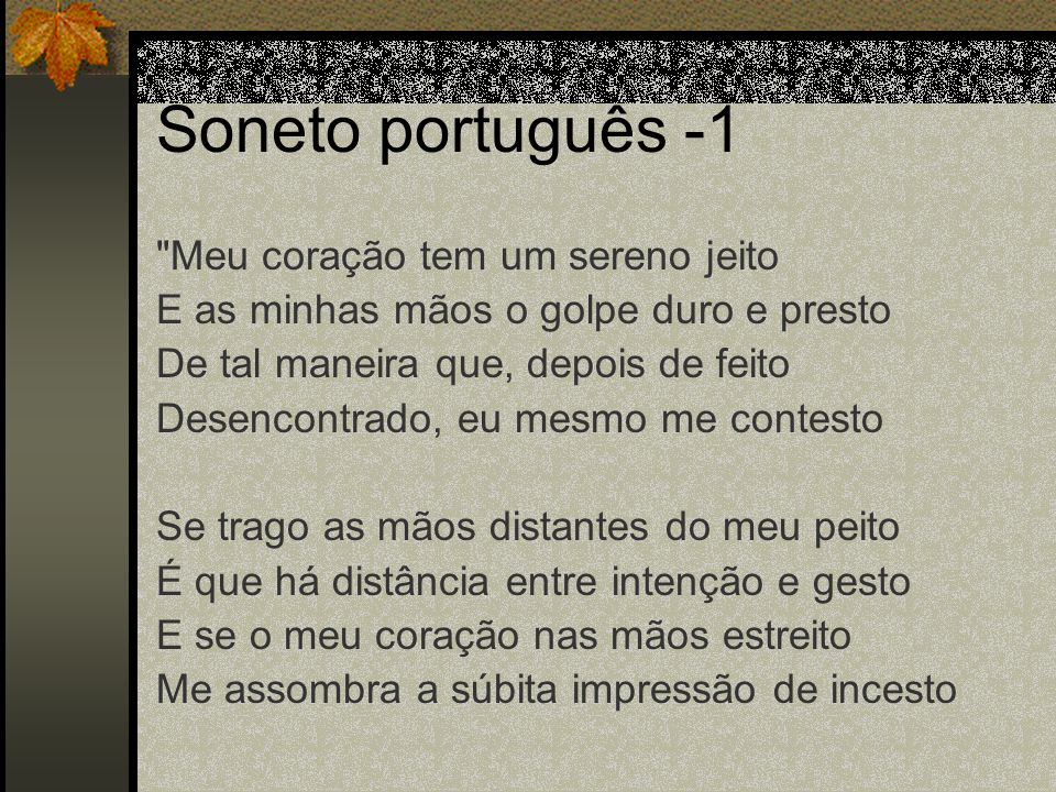 Soneto português -1