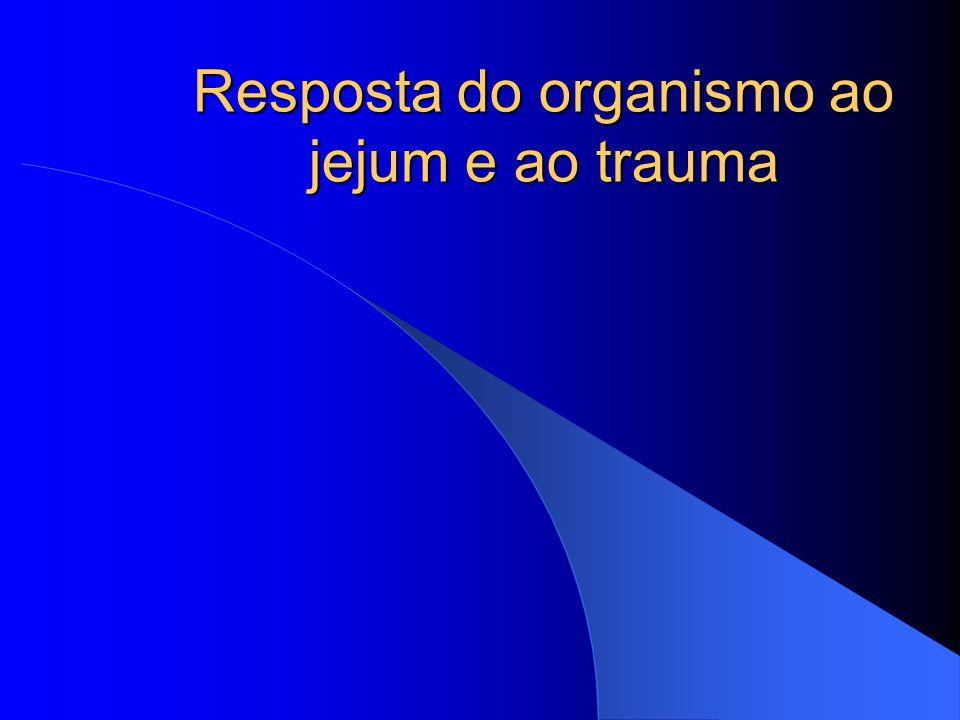 Resposta do organismo ao jejum e ao trauma