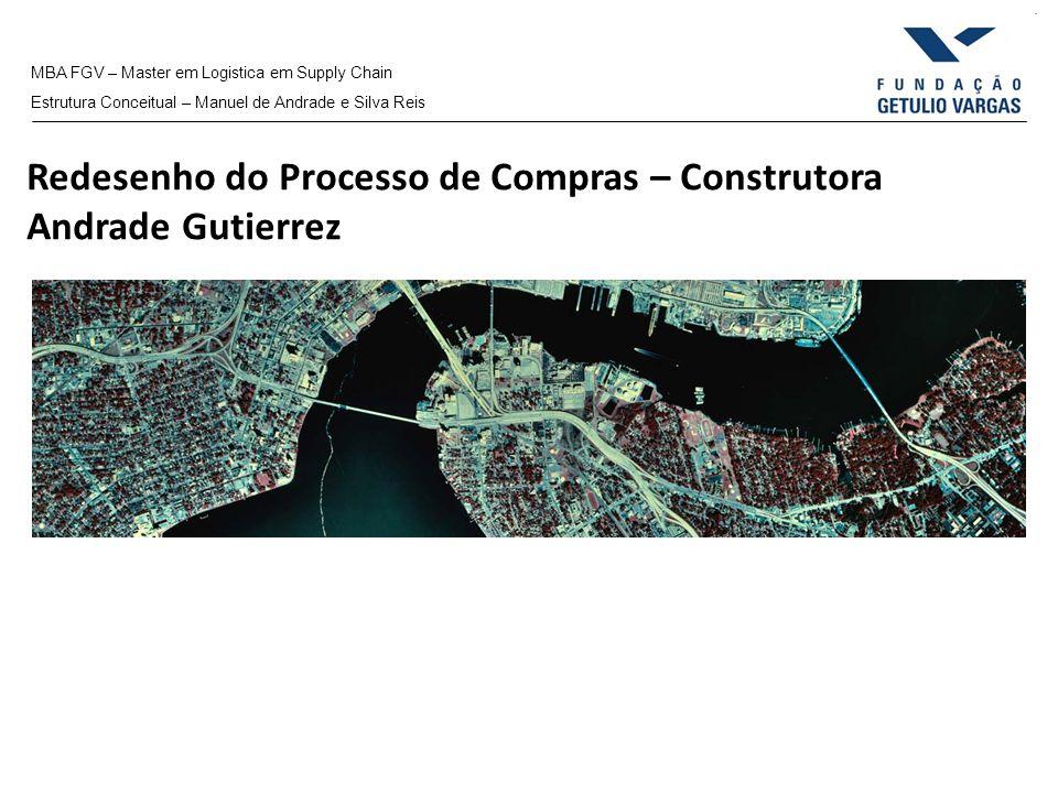MBA FGV – Master em Logistica em Supply Chain Estrutura Conceitual – Manuel de Andrade e Silva Reis Redesenho do Processo de Compras – Construtora And