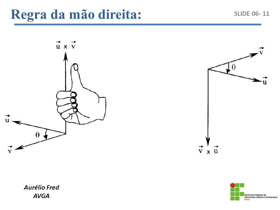 Aurélio Fred AVGA SLIDE 06- 11 Regra da mão direita: