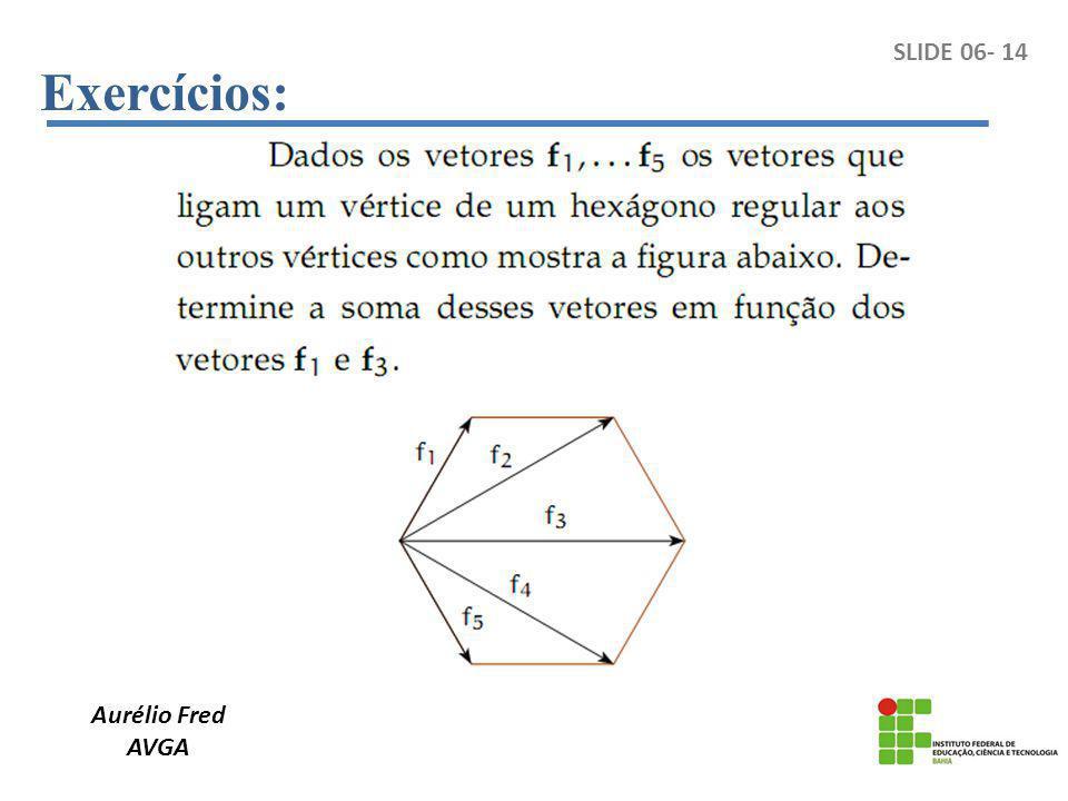 Exercícios: Aurélio Fred AVGA SLIDE 06- 14