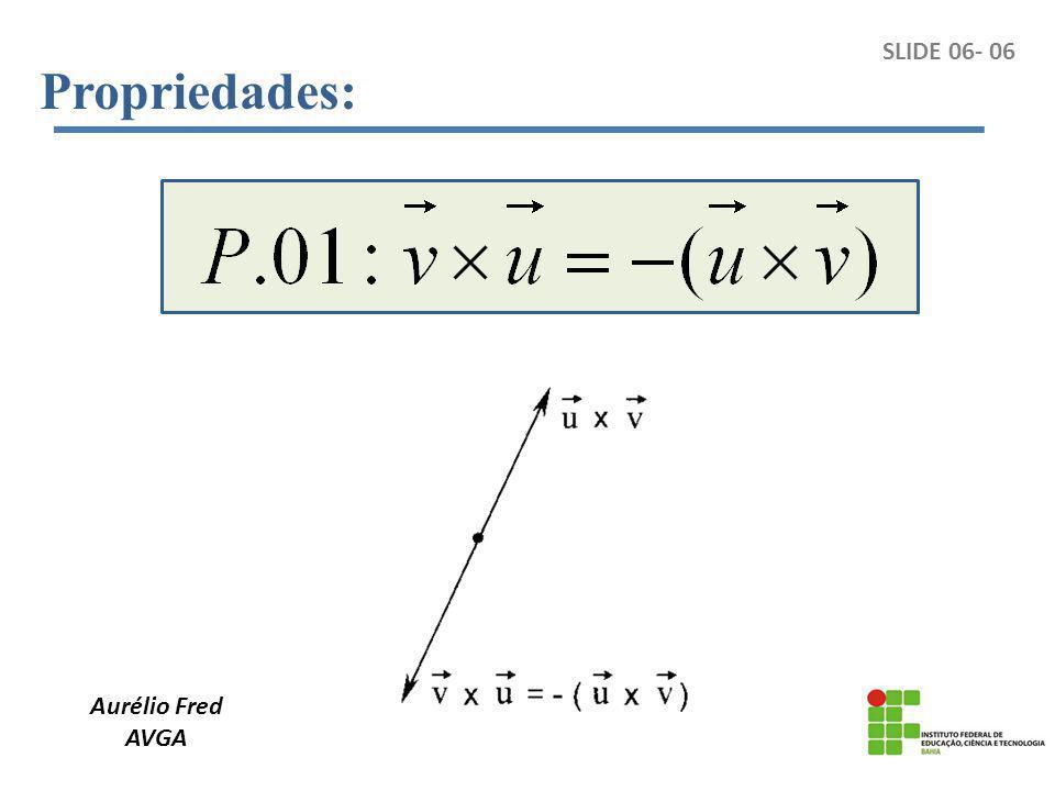 Aurélio Fred AVGA SLIDE 06- 06 Propriedades: