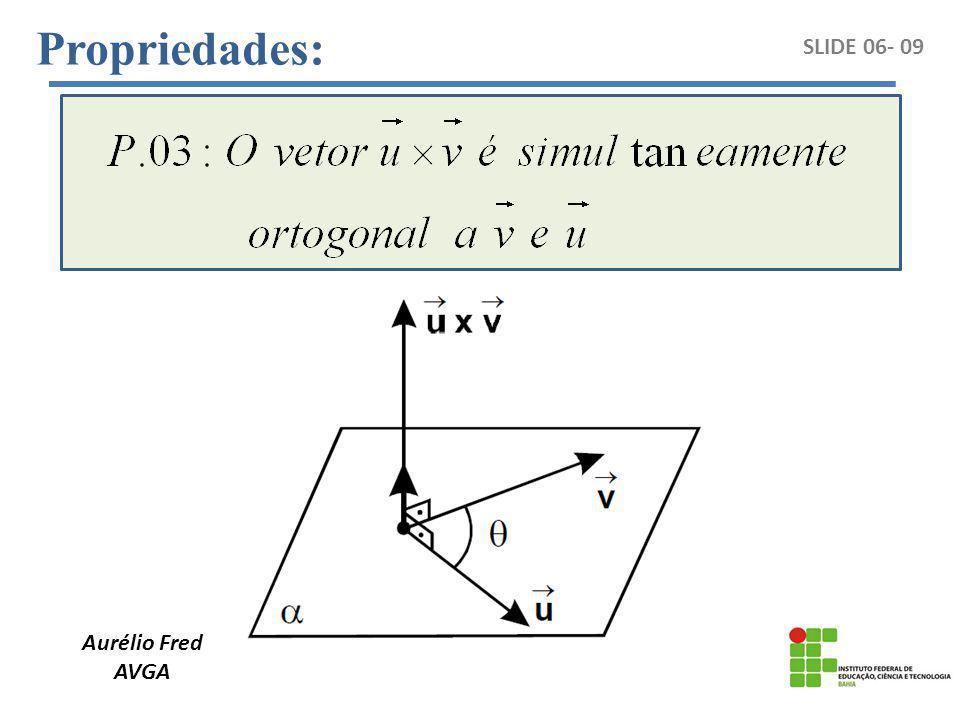 Aurélio Fred AVGA SLIDE 06- 09 Propriedades: