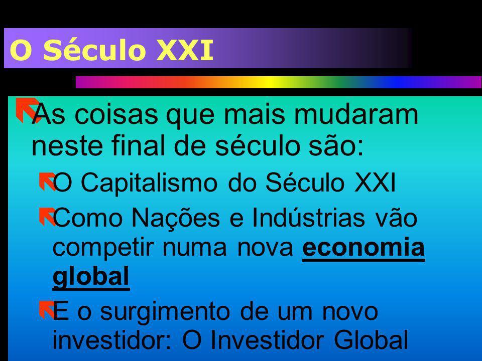 O Século XXI ë As coisas que mais mudaram neste final de século são: ëO Capitalismo do Século XXI ëComo Nações e Indústrias vão competir numa nova eco
