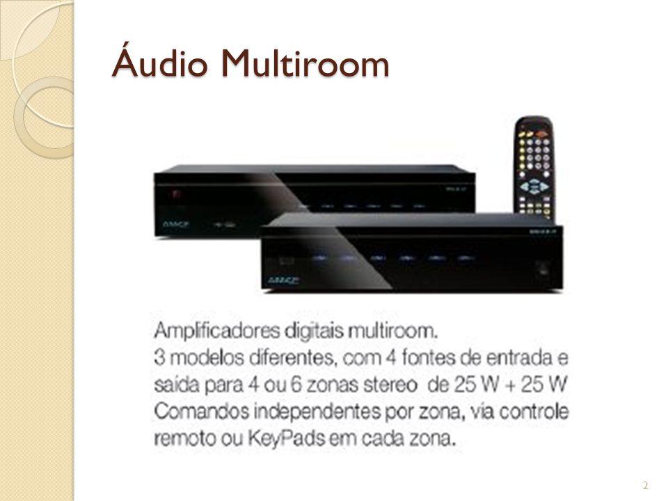 Áudio & Vídeo Multiroom Permite a sonorização de 4 a 6 ambientes distintos Permite a distribuição de vídeo para até 6 ambientes distintos (via MRV-XT) 4 fontes de áudio / vídeo Controle remoto total por IR, keypads ou serial (sistemas de automação) Disponíveis com 50W ou 80W por zona 3