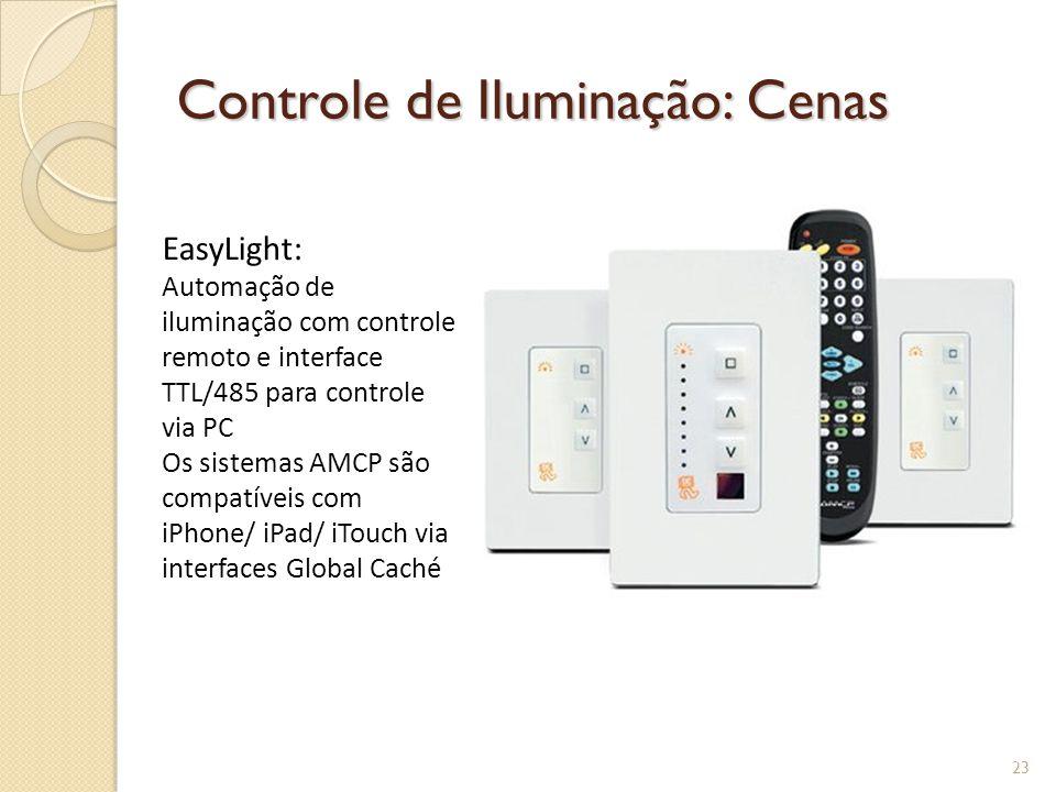 Controle de Iluminação: Cenas 4 circuitos dimerizáveis ou on/off 24