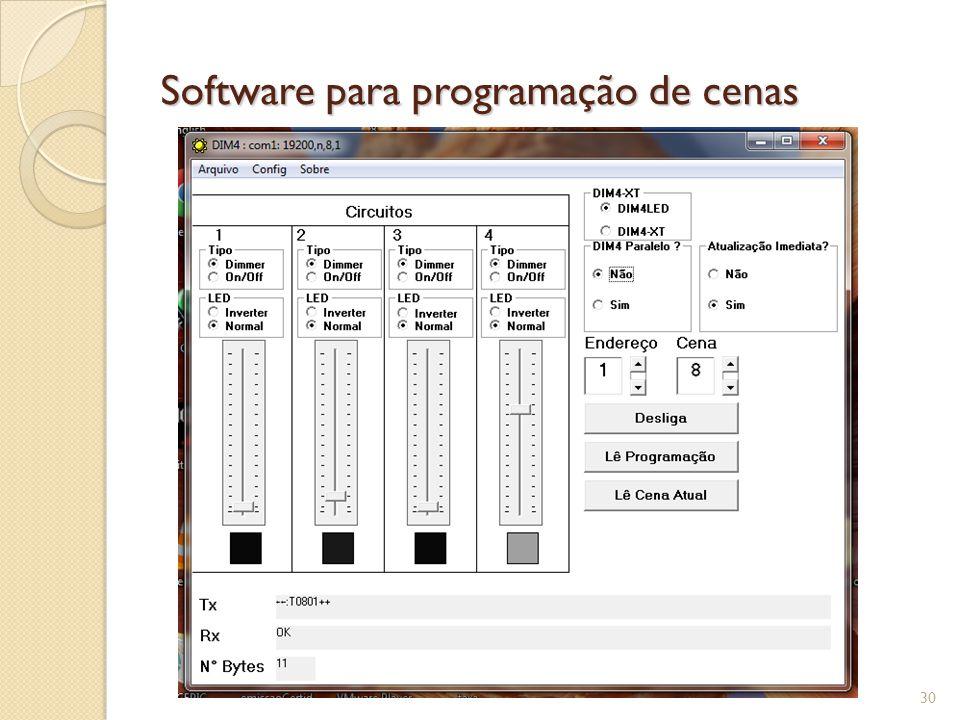 Software para programação de cenas 31