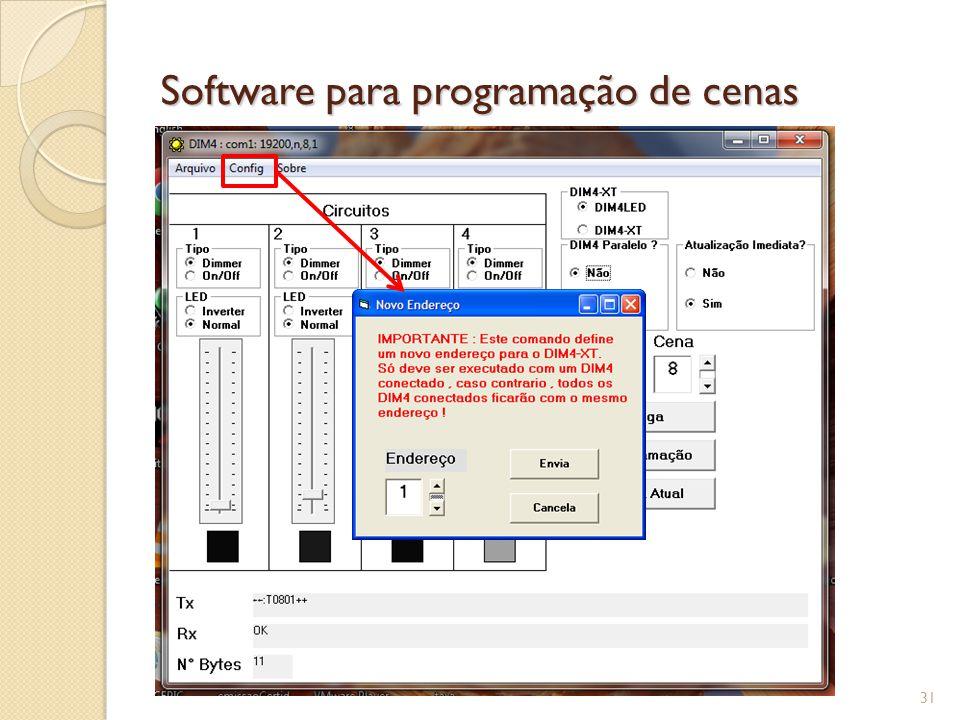 Software para programação de cenas 32