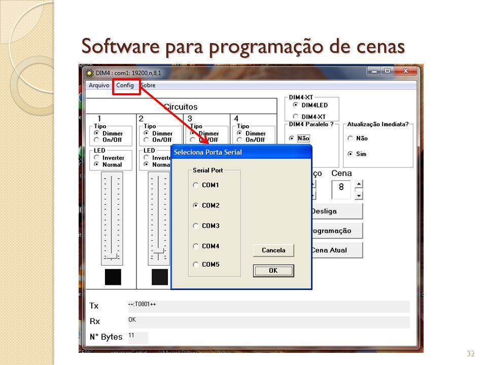 Software para programação de cenas 33