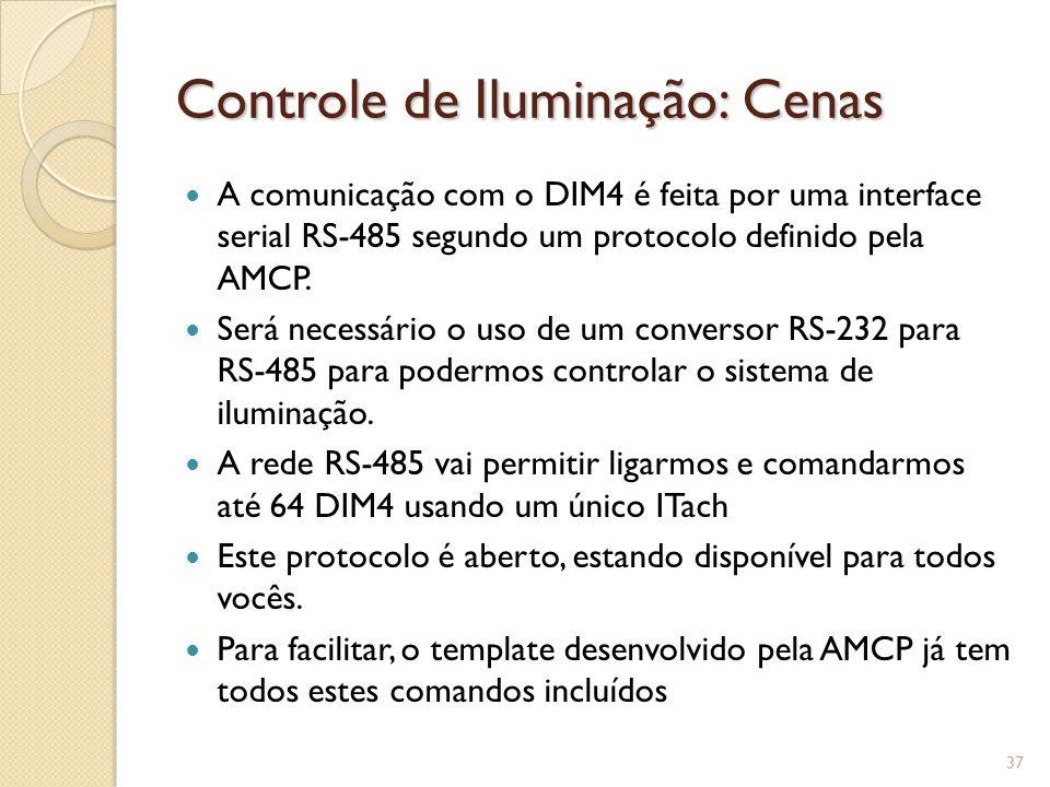 Controle de Iluminação: Cenas Diagrama de ligação DIM4-ITach 38