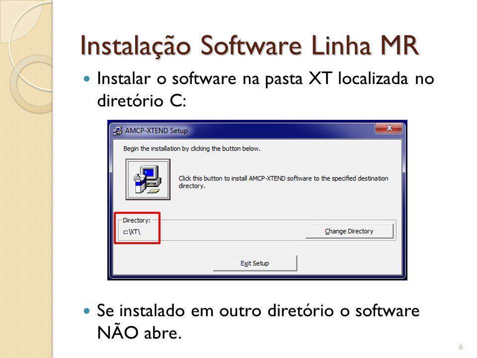 Instalação Software MR 7