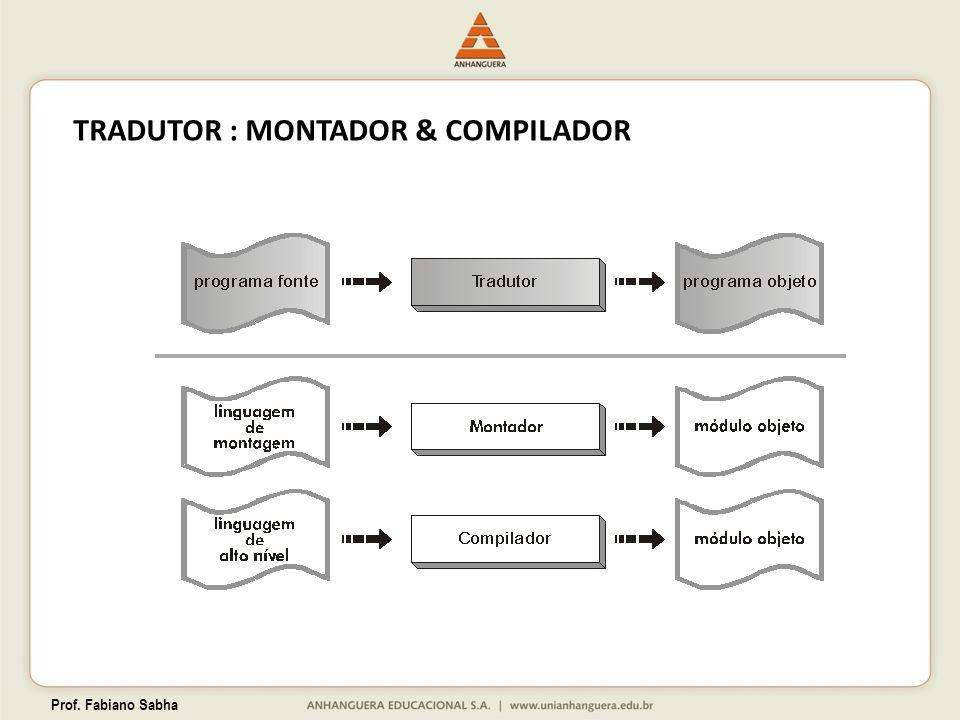 Prof. Fabiano Sabha TRADUTOR : MONTADOR & COMPILADOR