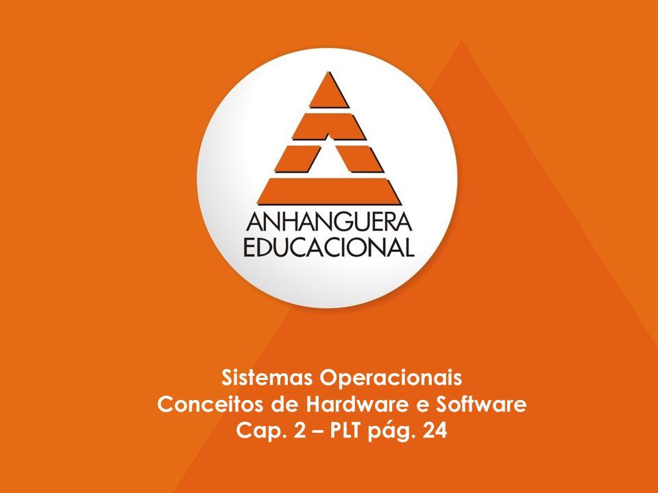 5 Sistemas Operacionais Conceitos de Hardware e Software Cap. 2 – PLT pág. 24