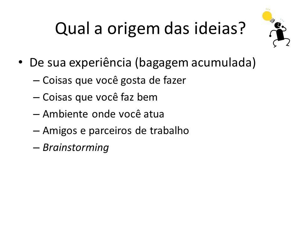 Qual a origem das ideias.