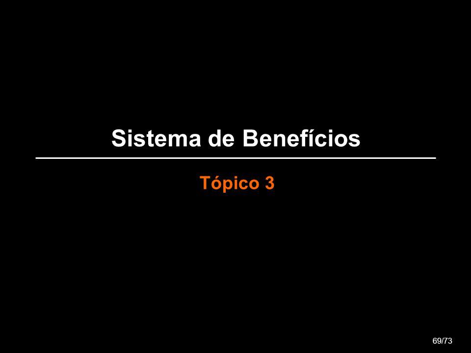 Sistema de Benefícios Tópico 3 69/73