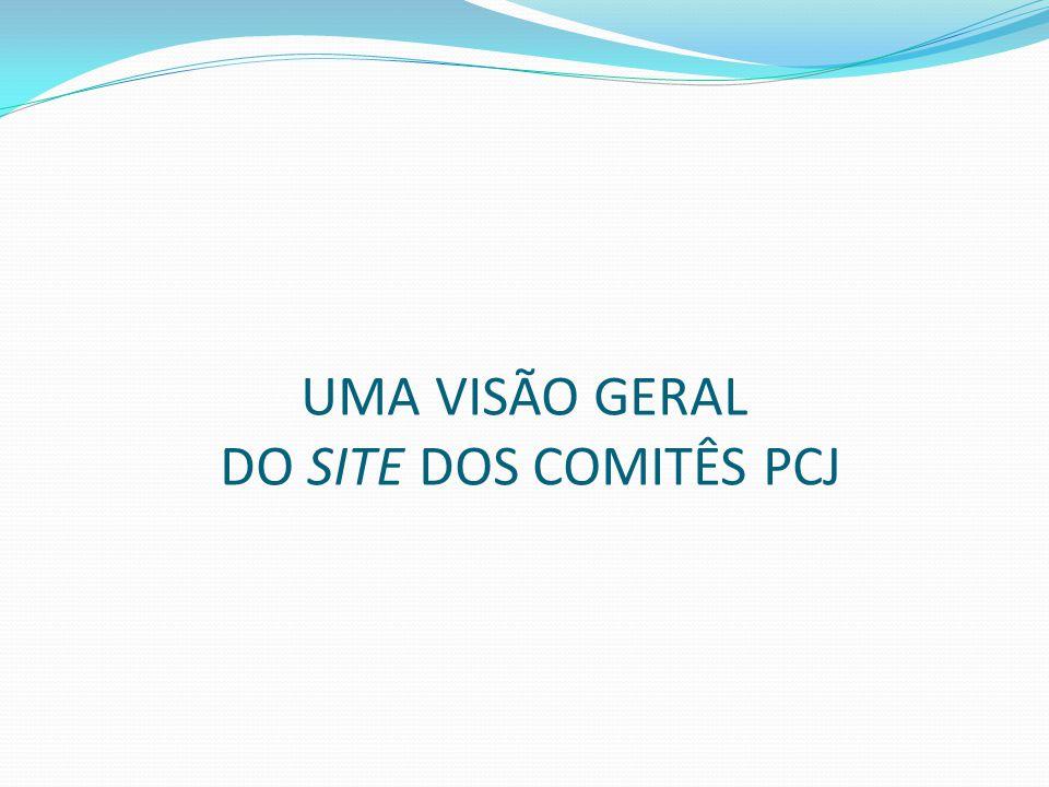 UMA VISÃO GERAL DO SITE DOS COMITÊS PCJ